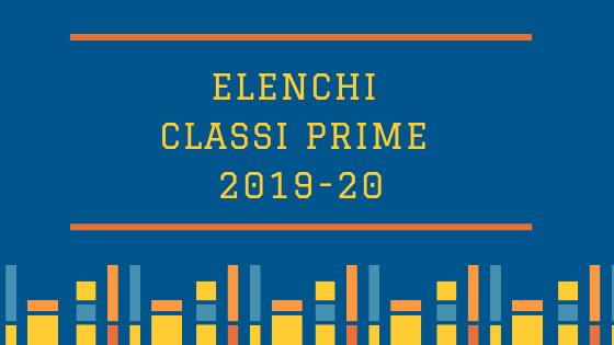 Elenchi classi prime a.s. 2019/2020